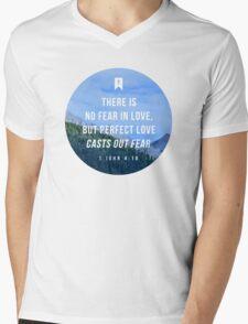 1 John 4:18 Mens V-Neck T-Shirt