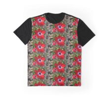 Lovely red garden flowers. Graphic T-Shirt