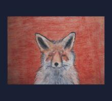 Sleepy Fox Pastel Drawing Kids Tee