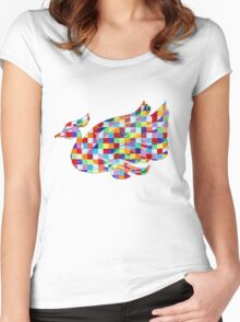 Swan Mural Women's Fitted Scoop T-Shirt