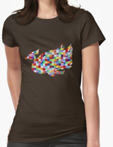 Swan Mural Womens Fitted T-Shirt