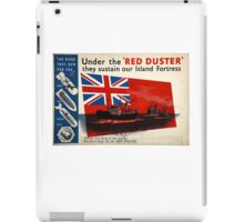 WAR POSTER, Red Duster, Red Ensign, UK, GB, Royal Merchant Navy, WWII, Poster iPad Case/Skin