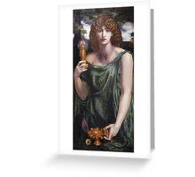 Dante Gabriel Rossetti - Mnemosyne, Portrait Of A Woman Greeting Card