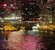 Victoria Harbour at Night Sticker