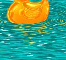 Quack Quack Says The Plastic Duck! Sticker