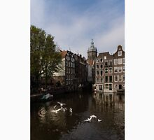 Amsterdam - Noisy Seagull Commotion on the Canal  Unisex T-Shirt