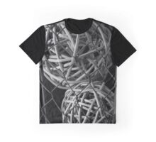Abstract Wire And Spheres Graphic T-Shirt