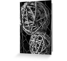 Abstract Wire And Spheres Greeting Card