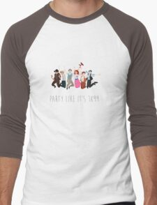 Party Like It's 1899 - for white things! Men's Baseball ¾ T-Shirt