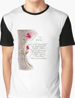Love in the same direction handwritten quote Graphic T-Shirt