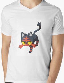 Litten - NEW Pokemon game Starter Mens V-Neck T-Shirt