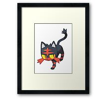 Litten - NEW Pokemon game Starter Framed Print