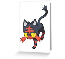 Litten - NEW Pokemon game Starter Greeting Card