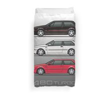 Stack of Volvo 480 Turbos Duvet Cover