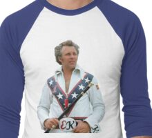 Evel Clipped Men's Baseball ¾ T-Shirt
