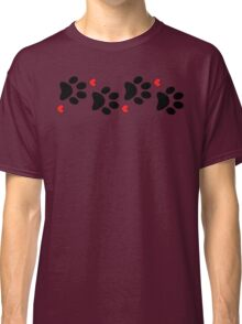 DOG PAWS LOVE DOG PAW I LOVE MY DOG PET PETS PUPPY STICKER STICKERS DECAL DECALS Classic T-Shirt