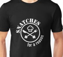 Snatch For a Reason (Muffin) White Unisex T-Shirt