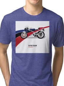 HONDA RC30 VFR750R TRIBUTE Tri-blend T-Shirt