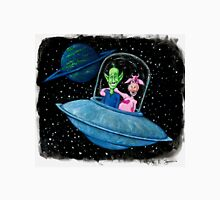 A Martian Abducts an Earth Cow Unisex T-Shirt