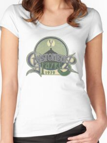 Glastonbury retro vintage design from 1979 festival Women's Fitted Scoop T-Shirt