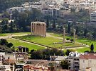 View of The Temple of the Olympian Zeus from the Acropolis by Lucinda Walter