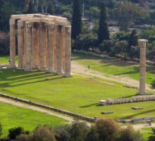 View of The Temple of the Olympian Zeus from the Acropolis Sticker
