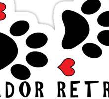 DOG PAWS LOVE LABRADOR RETRIEVER DOG PAW I LOVE MY DOG PET PETS PUPPY STICKER STICKERS DECAL DECALS Sticker