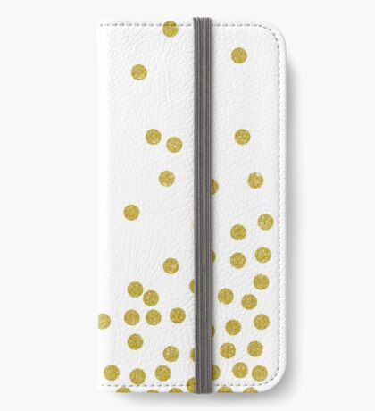 Gold polka dot iPhone Wallet/Case/Skin