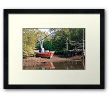 Old boat Framed Print