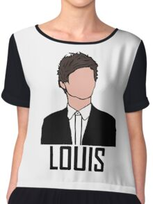 Outline of Louis Tomlinson  Chiffon Top