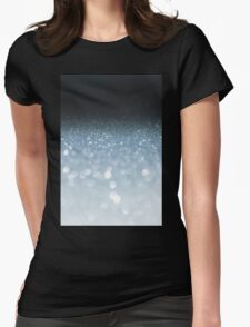 Silver abstract light background Womens Fitted T-Shirt
