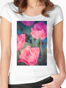 Pretty In Pink Women's Fitted Scoop T-Shirt