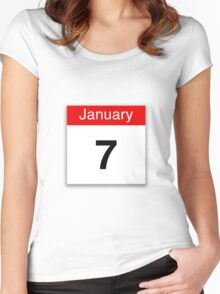 January 7th Women's Fitted Scoop T-Shirt