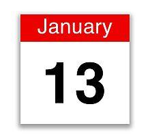 January 13 Photographic Print