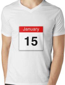 January 15th Mens V-Neck T-Shirt