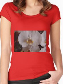 White Orchid  Women's Fitted Scoop T-Shirt
