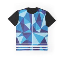 Low Poly Blue-Scale Graphic T-Shirt