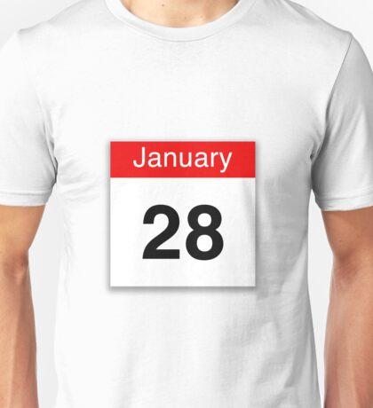 January 28th  Unisex T-Shirt