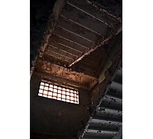 Stairs in abandoned apartment building Photographic Print