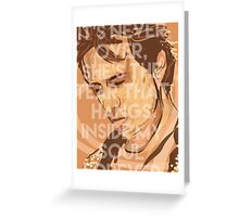 Jeff Buckley - lover you should've come over Greeting Card