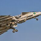 SAAB AJS 37 Viggen 37098/52 SE-DXN climbing out by Colin Smedley