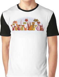 The Vector Cats Graphic T-Shirt