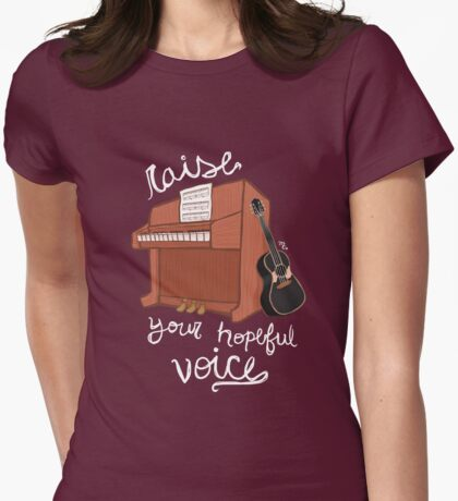 Raise Your Hopeful Voice Womens Fitted T-Shirt
