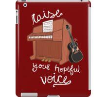 Raise Your Hopeful Voice iPad Case/Skin