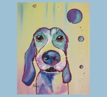 Colorful Dog Art by Valentina Miletic One Piece - Short Sleeve