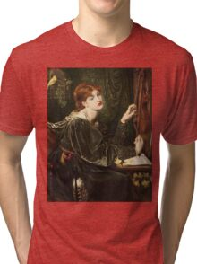 Dante Gabriel Rossetti - Veronica Veronese , Portrait Of A Woman Tri-blend T-Shirt