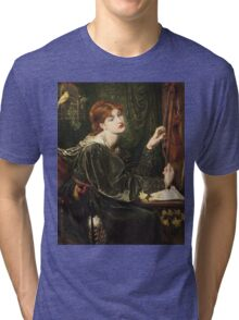 Dante Gabriel Rossetti - Veronica Veronese , Portrait Of A Woman Tri-blend T-Shirt