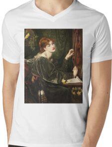 Dante Gabriel Rossetti - Veronica Veronese , Portrait Of A Woman Mens V-Neck T-Shirt