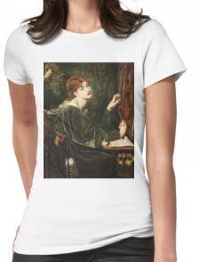 Dante Gabriel Rossetti - Veronica Veronese , Portrait Of A Woman Womens Fitted T-Shirt