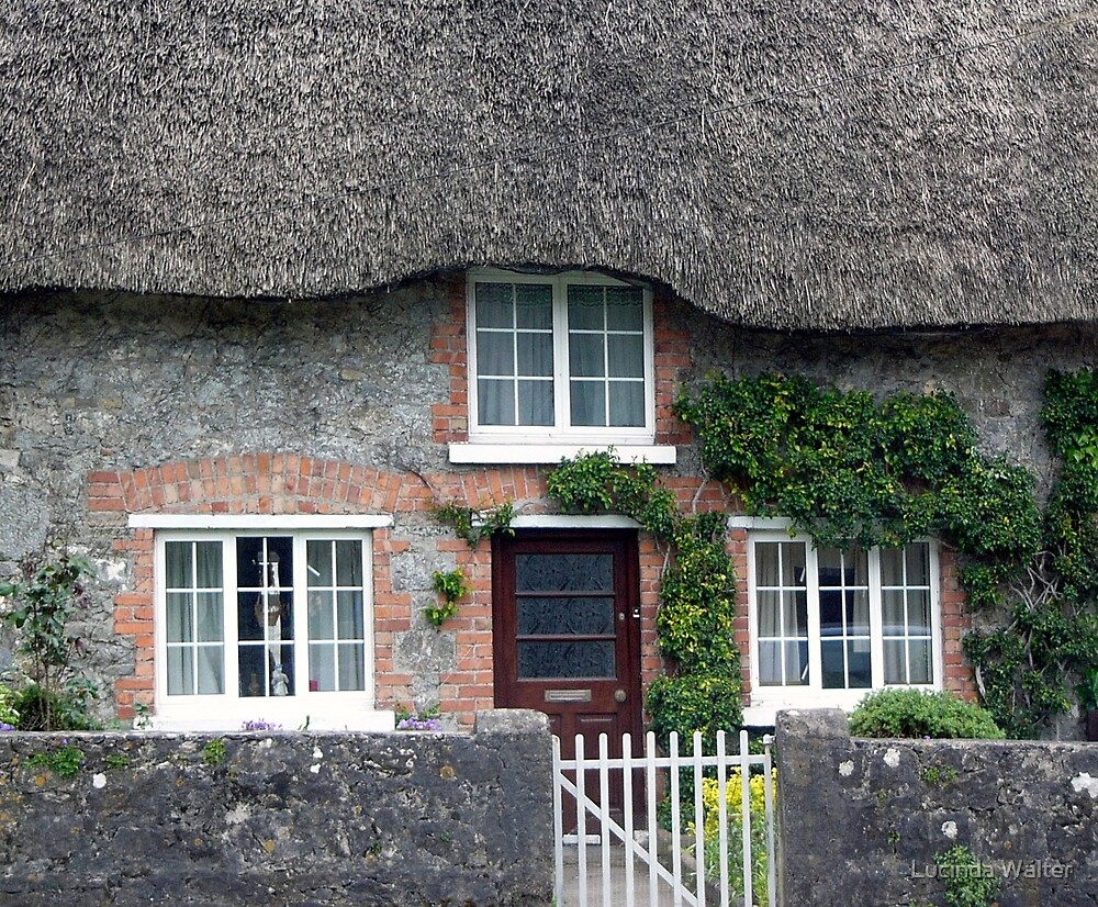 Thatched Roof House in Ireland by Lucinda Walter